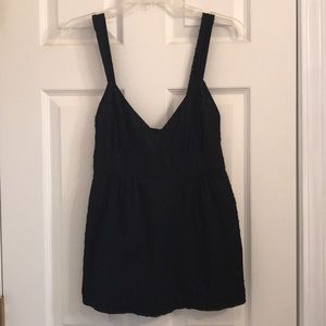 J Crew Black Sleeveless Blouse